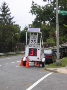 Speed monitor on Park Place