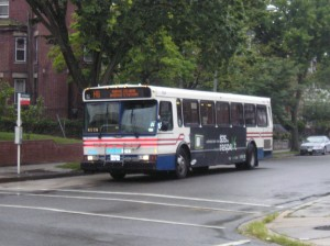 Metro bus at Rock Creek Church Rd and Warder St.