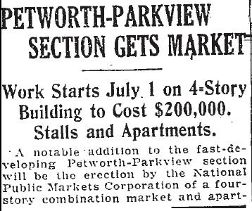 Petworth Parkview market 1