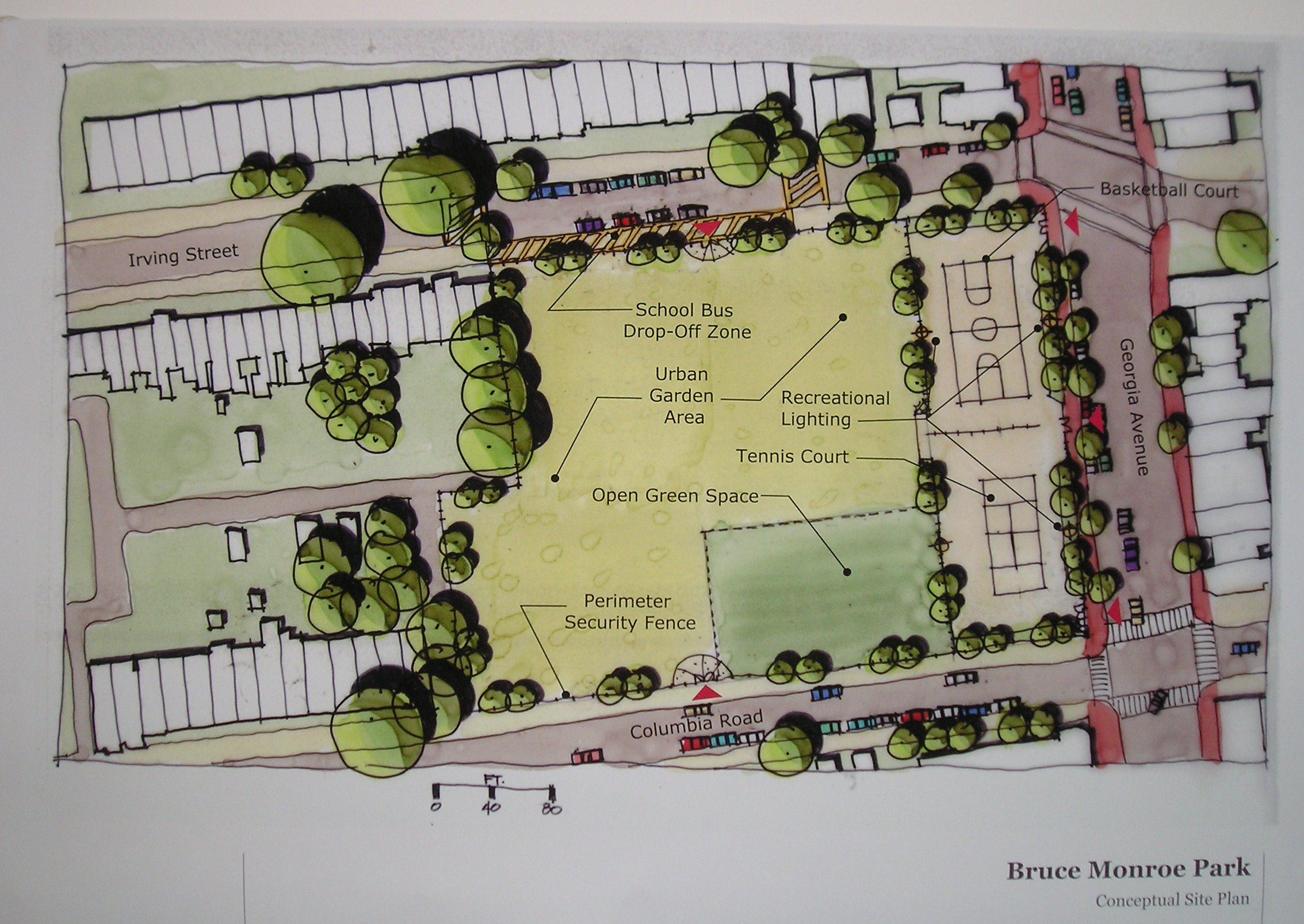 Sketch Floor Plans Initial Look At Bruce Monroe Interim Use Proposal Park