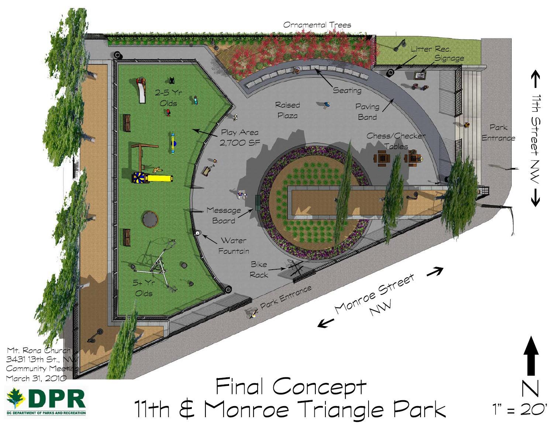 Trolley Turnaround Park Opens 11th Amp Monroe Ribbon