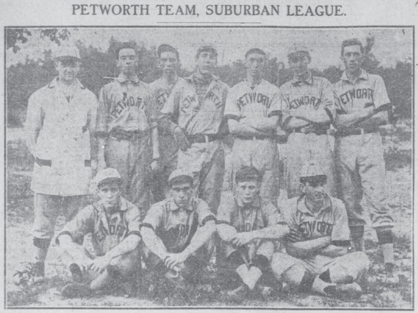 Photo from the Washington Herald, Aug. 19, 1909. Numerous amateur leagues ...