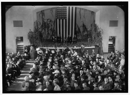 Thanksgiving celebration in the auditorium of the Park View school, November 1916