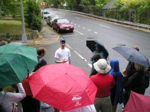 Leading the 2009 Park View WalkingTown tour.