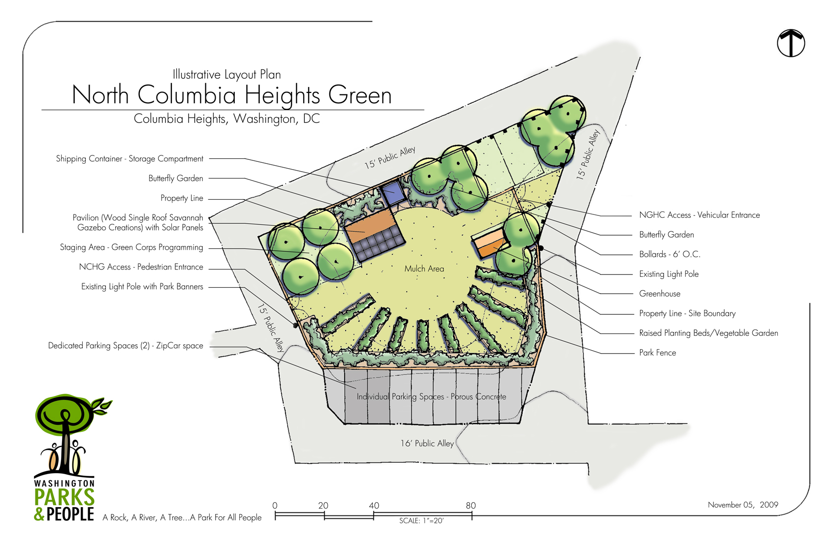 North columbia heights green update park view d c for Arid garden design 7 little words