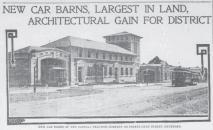 Car barn 1907