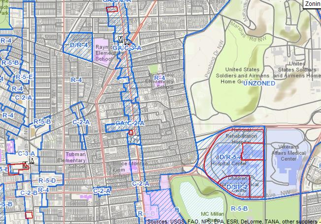 new interactive zoning map released by d c office of zoning