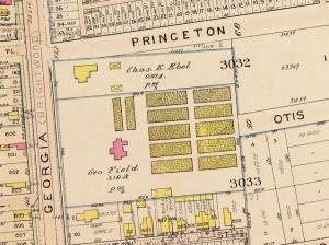 George Field property and nursaries from Baist's real estate atlas of surveys of Washington, District of Columbia, 1911