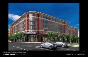 Rendering of the Petworth Safeway now under construction.