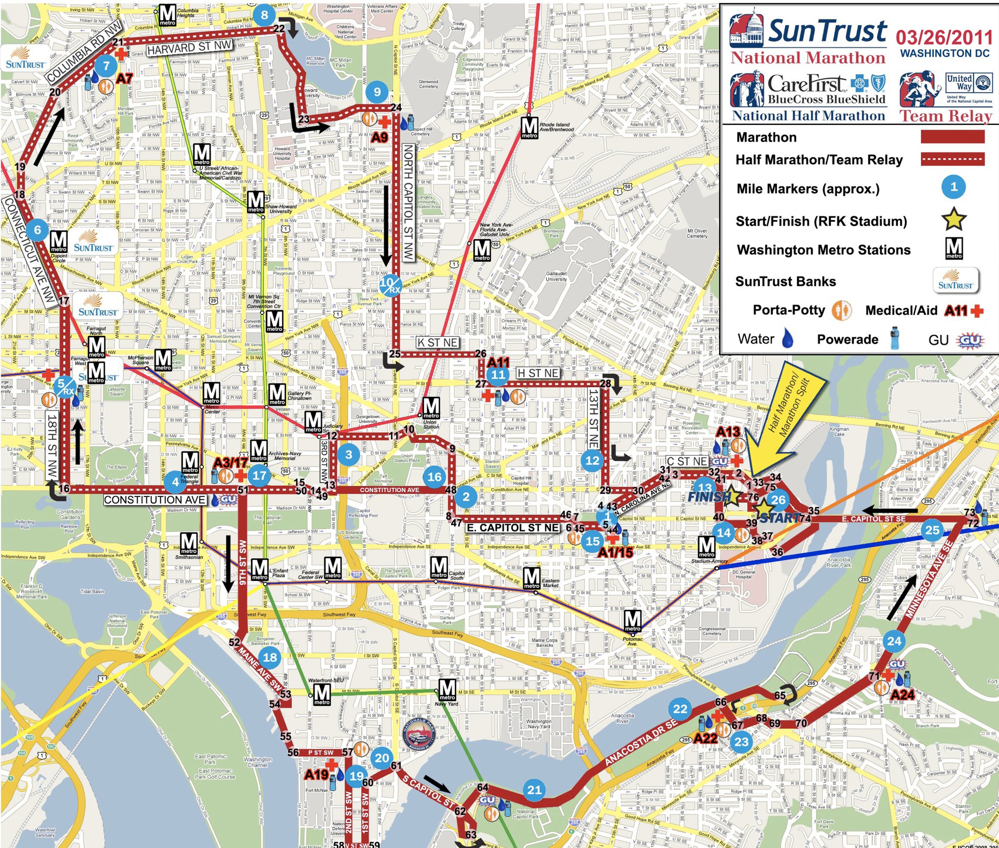 rock and roll marathon route map with 2011 Sun Trust National Marathon Is Tomorrow on 1140051 besides Vancouver Sun Run Road Closures And Route Map moreover Rock N Roll San Diego Elevation Chart together with Ing New York City Marathon 2013 Review moreover Rock N Roll Las Vegas Half Marathon.