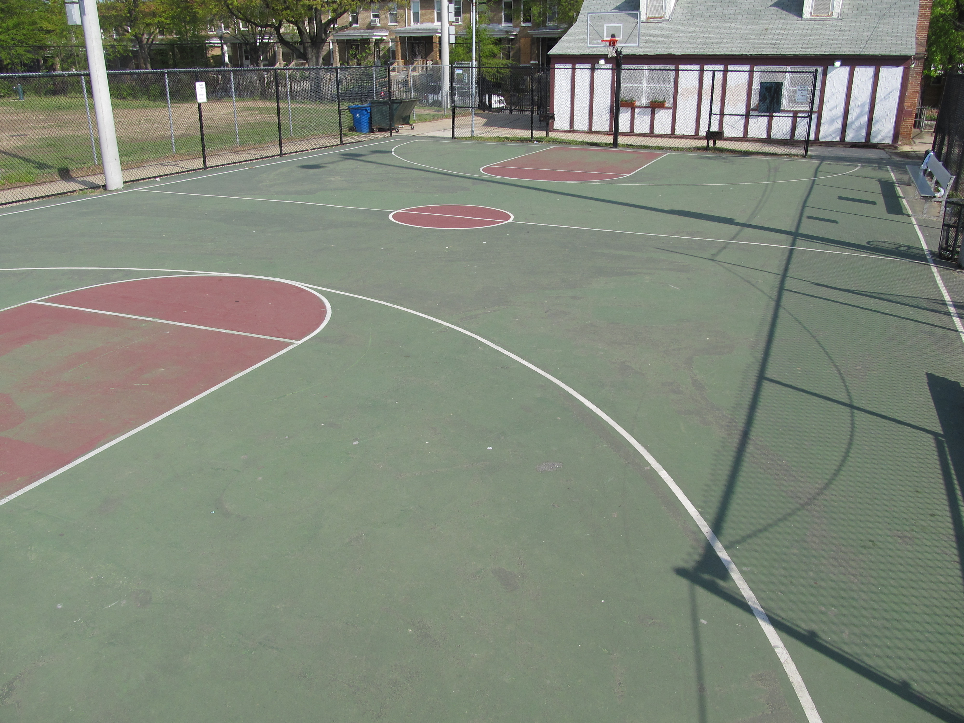Resurfaced Basketball Courts Renovated Field Comming To