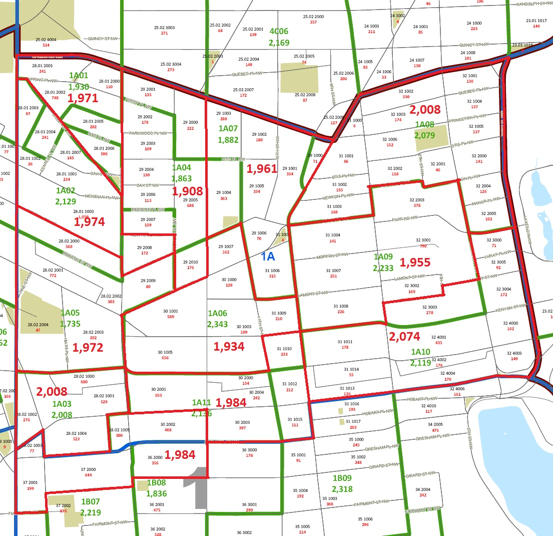 Ward 1 ANC/SMD Task Force Recommends Four ANC Map as Primay