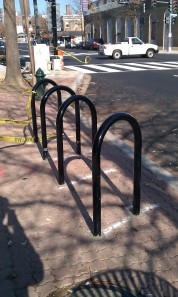 New bike racks in front of DC Reynolds