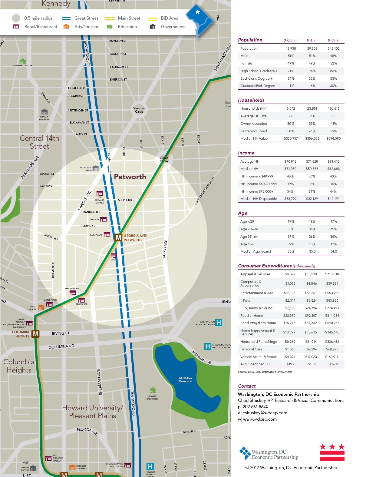Petworth Dc Map.Washington Dc Economic Partnership Erases Park View From 2012