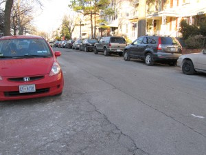 Even with RPP, some blocks, such as the 700 block of Quebec, struggle handling the demand for street parking.