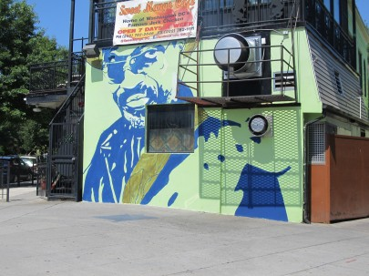 New mural at sweet mango cafe honors go go godfather chuck for Chuck brown mural