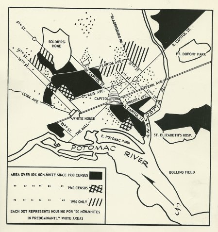 1952 Washington population map