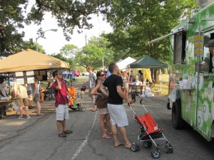 Food trucks at last year's July 4th event.