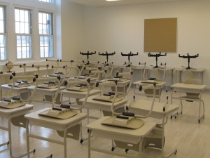 Class room at the BMPV school after modernization.