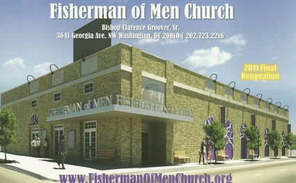This postcard provides an idea of what the updated Fisherman of Men church could look like
