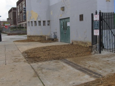 The planters along Warder Street and Otis Place, NW, have all been removed.