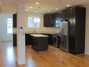 Kitchen area from the lower unit of 622 Rock Creek Church Rd., NW.