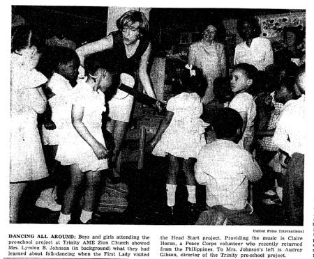 Mrs. Johnson at Trinity pre school May 1965