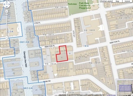 608-610 Newton Place site map