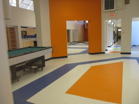 I sneak peek at some of the interior work at Park View Recreation.