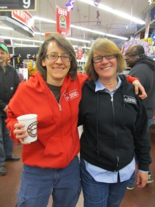 Annie's Ace Hardware owner Anne Stom with her partner Lyn Stoessen.