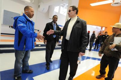 Mayor Gray and Park View site manager Craig Hughes.