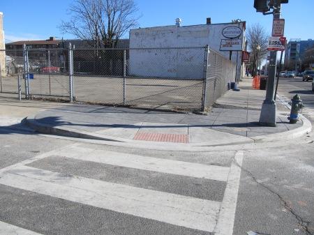 New crosswalk at Park Road and Georgia.