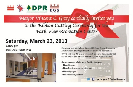 Park View Ribbon cutting