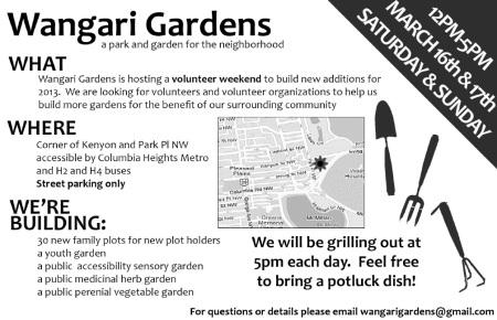 Wangari Gardens flyer