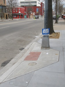 One of the several cross walk ramps installed at Georgia and Park Road.