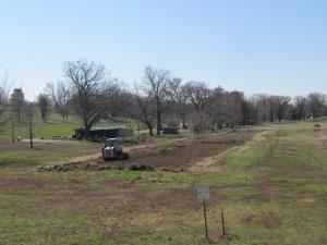 Preparing the soil at the AFRH gardens.