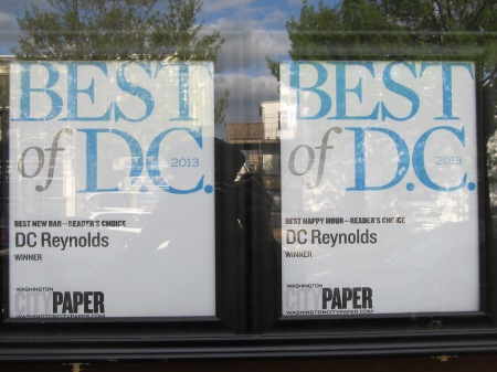 DC Best New Bar and Best Happy Hour in 2013.