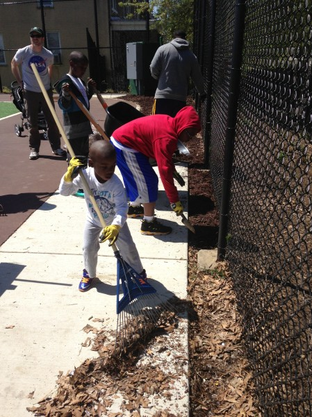 Kids at Earth Day Cleanup