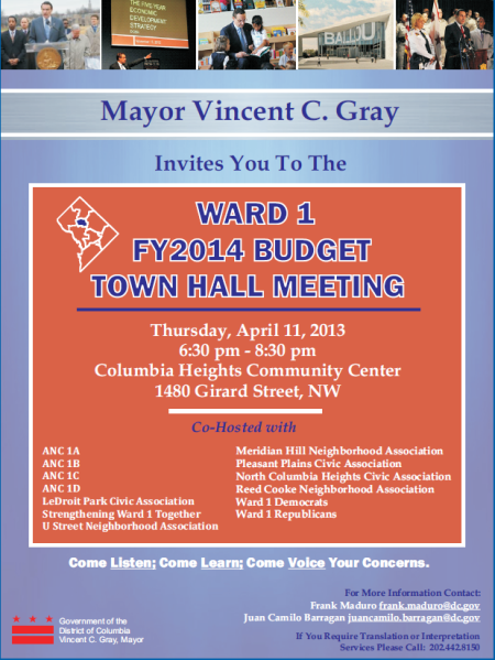 ward 1 town hall flyer
