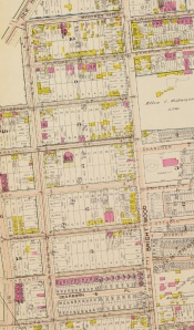 As this detail from the 1903 Baist's Real Estate Atlas of Surveys of Washington shows, upon completion the Bruce School would have been an imposing and impressive building in a sparsely developed area of Washington.