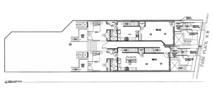 First floor plan for 3612-3614 Park Place