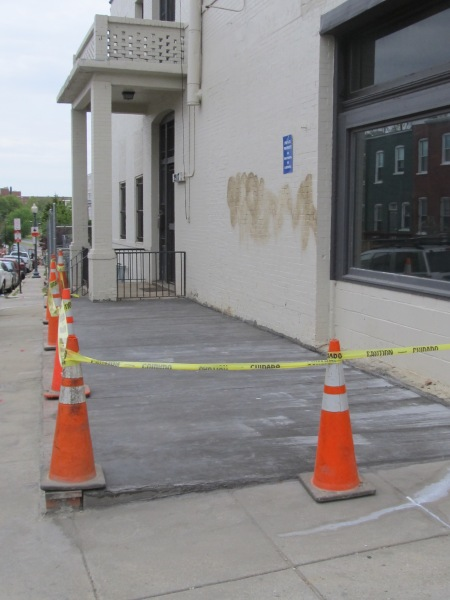 A new concrete patio space has already been poured along Hobart in preparation of the future summer garden.