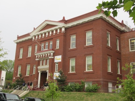 Chavez Prep is located in the old Bruce School. The original school building dates to 1895.
