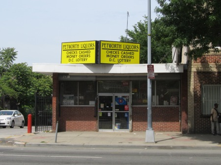 Petworth Liquor, located at 3210 Georgia.