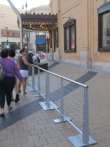New fencing installed at A-Burger, Columbia Heights.