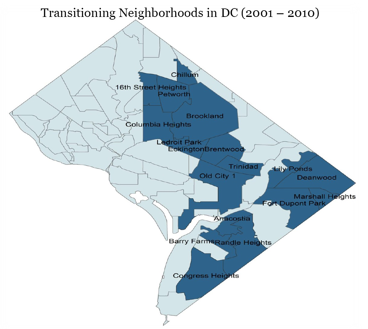 MAPS GALLERY Mary BelcherWashington Watercolors DC Area Survey - Washington dc map by race