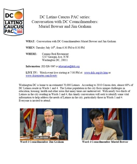 Bowser Graham Latino Caucus
