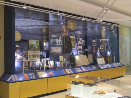 The west wall contains photos and artifact related to live and liesure at the Soldiers' Home.