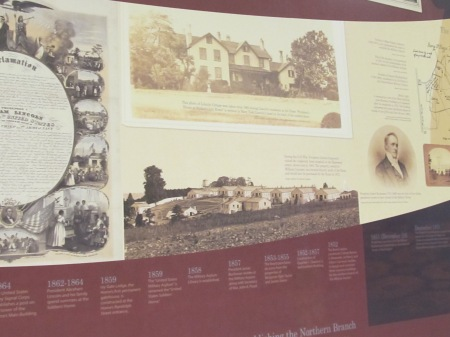 The eastern wall contains an overview of the Soldiers' Home's history, including a timeline.