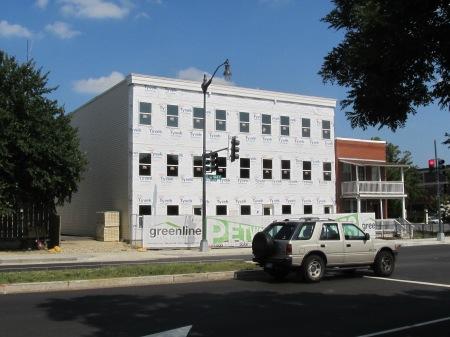Progress of Park Row on July 21st.